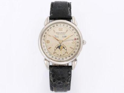 MOVADO  Rare montre bracelet d'homme en métal...