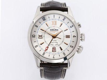 VULCAIN ''CRICKET DUAL TIME''  Montre bracelet...