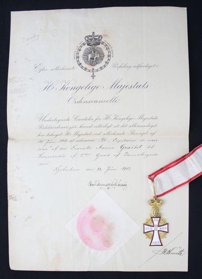 DENMARK  ORDER OF THE DANNEBROG  COMMANDER'S...