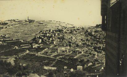 JÉRUSALEM, vers 1930.  Vue de la Vieille...