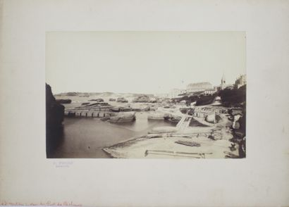 Paul FROIS (1834 - 1894)  BIARRITZ : vue...