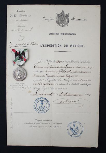 FRANCE  MEDAL OF THE MEXICO CAMPAIGN by Barre...