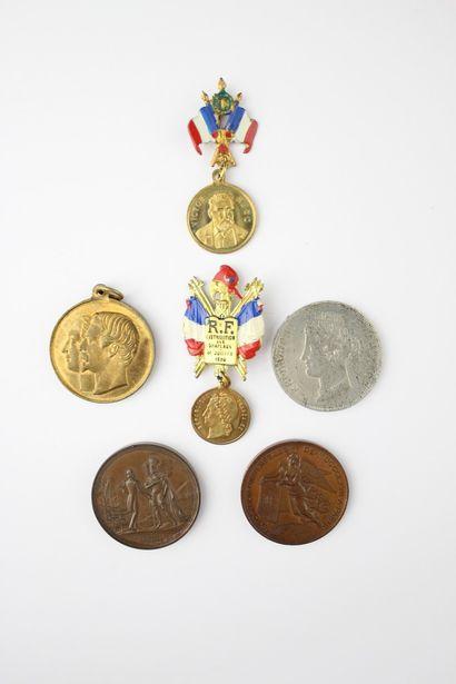 SET OF SIX SOUVENIRS :  Two commemorative...
