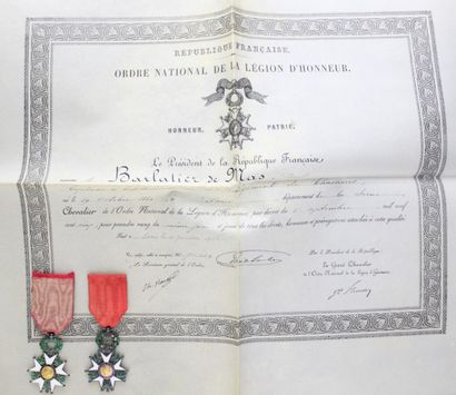 FRANCE  ORDER OF THE LEGION OF HONOR.  TWO...