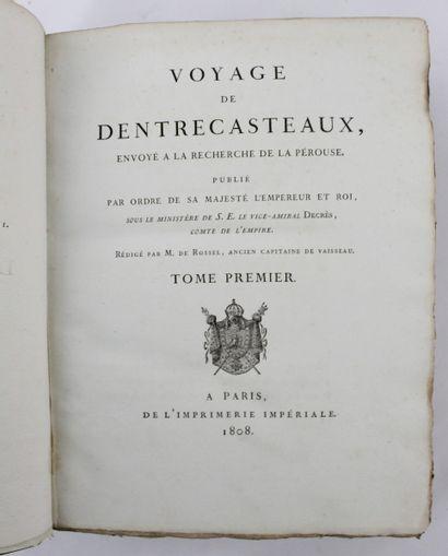 ENTRECASTEAUX (Joseph-Antoine Bruny, chevalier d'). Atlas du Voyage envoyé à la...
