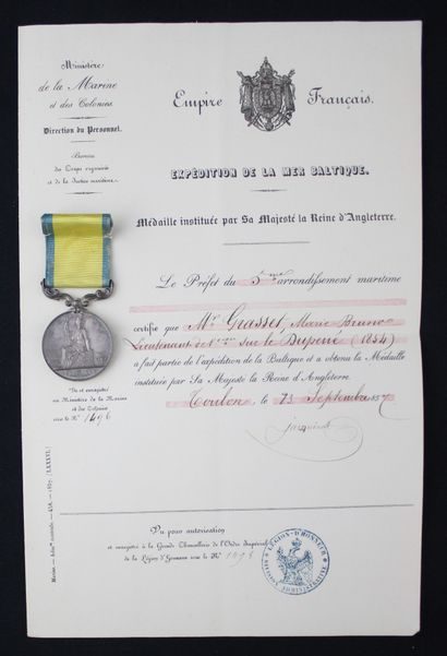 GREAT BRITAIN  MEDAL OF THE BALTIC, by Wyon,...