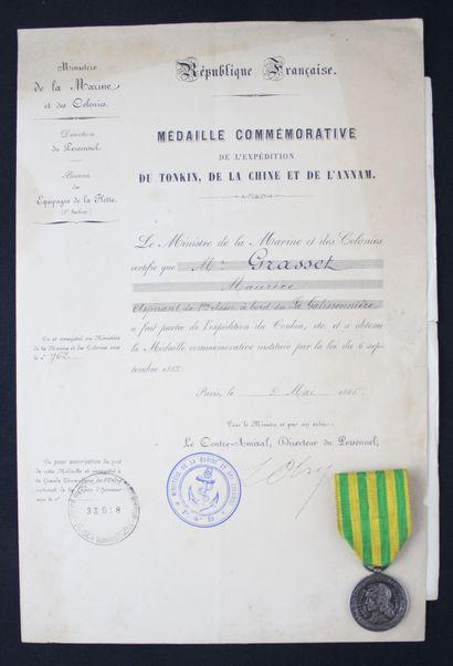 FRANCE  MEDAL OF TONKIN, model of the Navy...