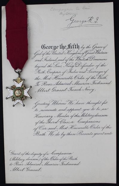GREAT BRITAIN  ORDER OF THE BATH  CROSS OF...