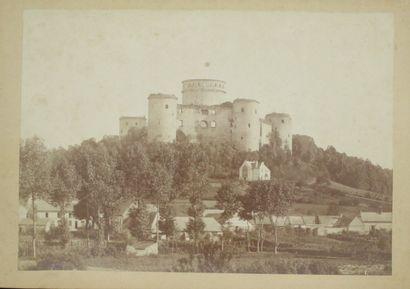 FRANCE  COUCY, Le Château fort, commune de...
