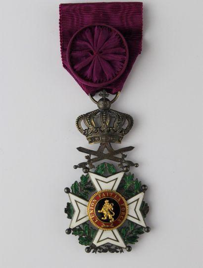 BELGIUM  ORDER OF LEOPOLD II  CROSS OF OFFICER...