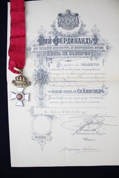 BULGARIA  ORDER OF SAINT ALEXANDER  CROSS...