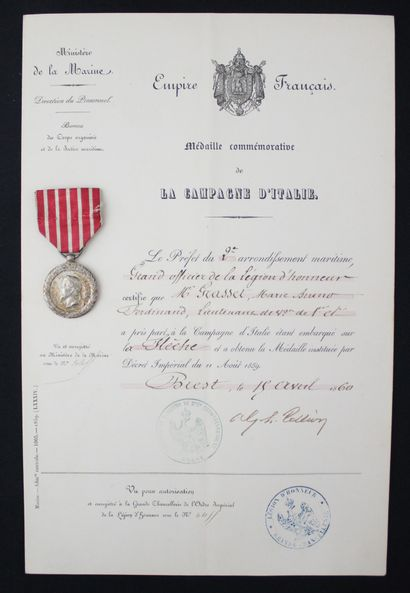 FRANCE  MEDAL OF THE CAMPAIGN OF ITALY by...