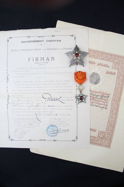 MOROCCO  ORDER OF THE OUISSAM ALAOUITE  ENSEMBLE...