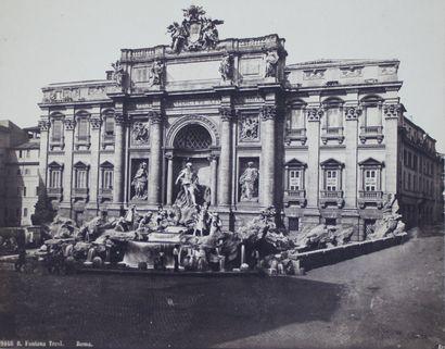 ITALIE XIXe  19 épreuves sur papier albuminé...
