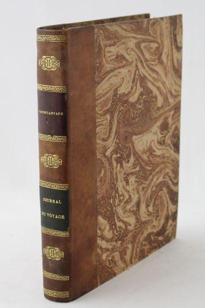COURTANVAUX (marquis de). Journal du voyage...