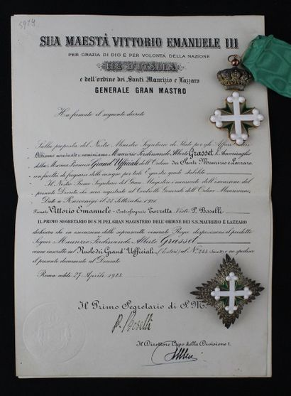 ITALY  ORDER OF SAINT MAURICE AND LAZARUS...