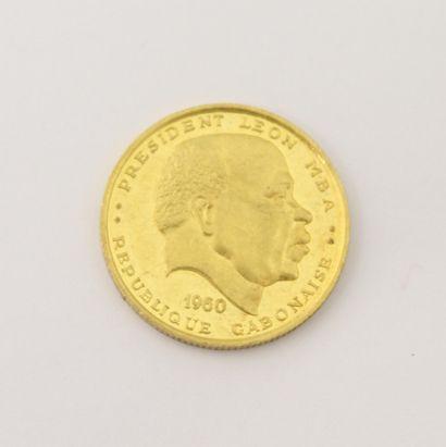 Pièce de 25 Francs Gabon or 1960  P. 8,1...