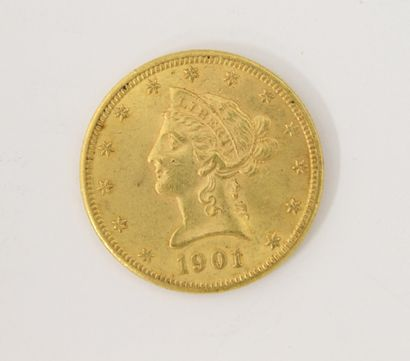Pièce de 10 dollars US or 1901  P. 16,6...
