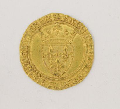 ECU D'OR à la couronne Charles VI (1380-1422)....
