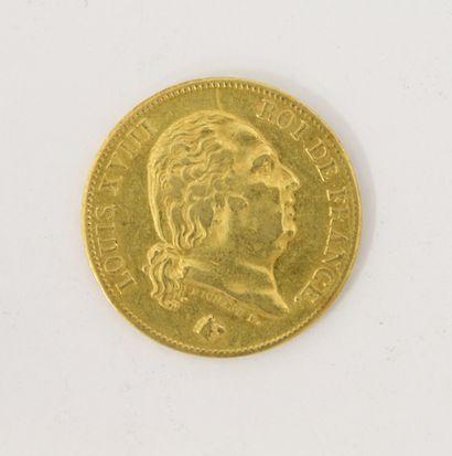 Pièce de 40 Francs Français or 1817 LOUIS...