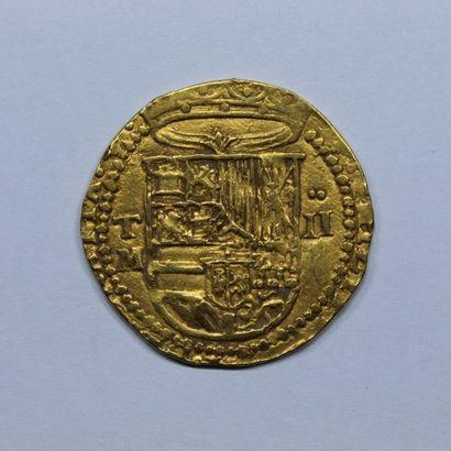 ESPAGNE. PHILIPPE II (1556-1598). 2 escudos....