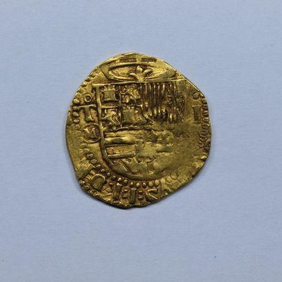 ESPAGNE. PHILIPPE II (1556-1598). Escudo....