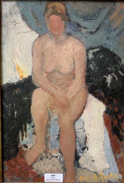 Henri-André MARTIN (1918-2004)  Nu blond...