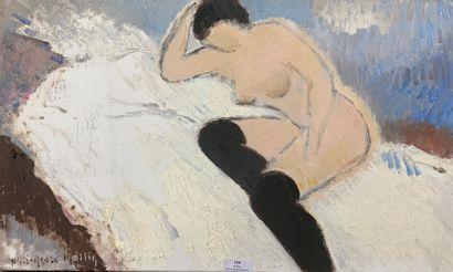 Henri-André MARTIN (1918-2004)  Nu aux bas...
