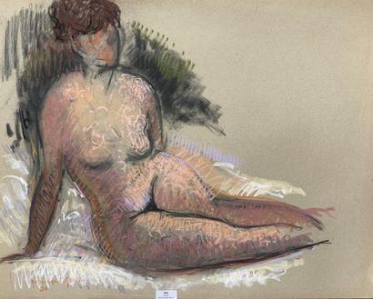 Henri-André MARTIN (1918-2004)  Nu jambes...