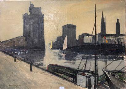 Henri-André MARTIN (1918-2004)  Le port de...