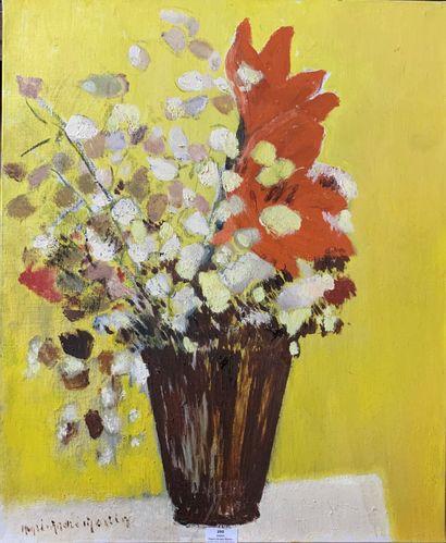 Henri-André MARTIN (1918-2004)  Vase de fleurs...