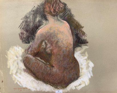 Henri-André MARTIN (1918-2004)  Nu assis...