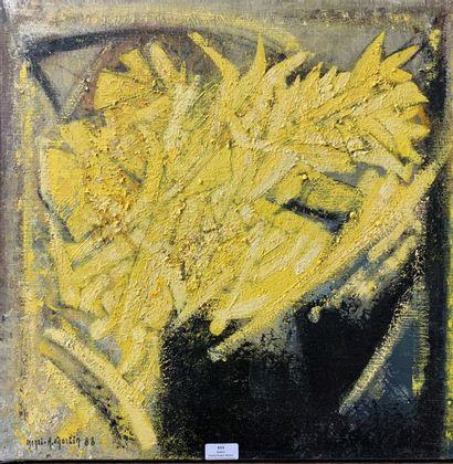 Henri-André MARTIN (1918-2004)  Fleurs jaunes...