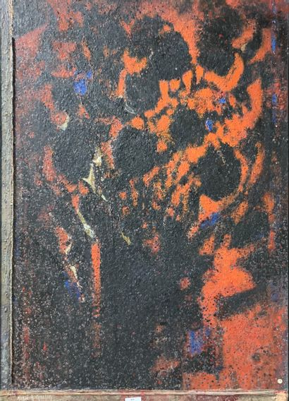 Henri-André MARTIN (1918-2004)  Fleurs ombres...