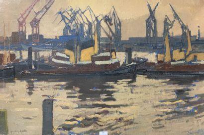 Henri-André MARTIN (1918-2004)  Port de commerce...