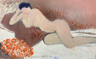 Henri-André MARTIN (1918-2004)  Nu allongé...