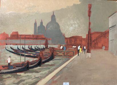 Henri-André MARTIN (1918-2004)  Venise  Toile...