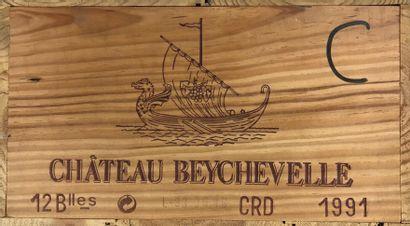 12 Bouteilles CHÂTEAU BEYCHEVELLE - Saint-Julien...