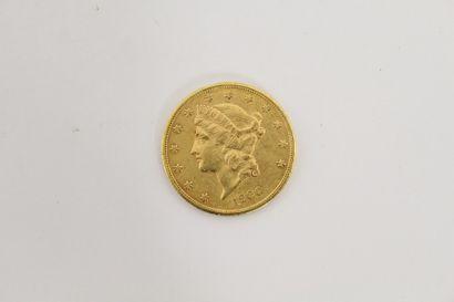1 Pièce de 20 Dollars US or 1900  P. 33,5...
