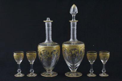 SERVICE A LIQUEUR, Circa 1900, en cristal...