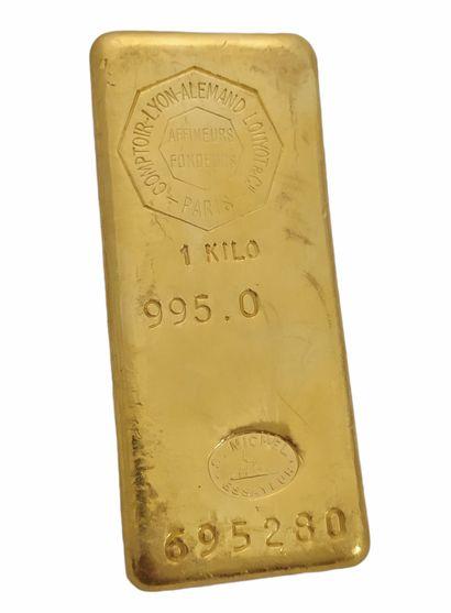 1 LINGOT D'OR numéro 695280 Poids 1 kg avec...