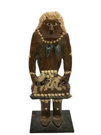 Marcel GIRAUD (1937)  Sculpture femme au...