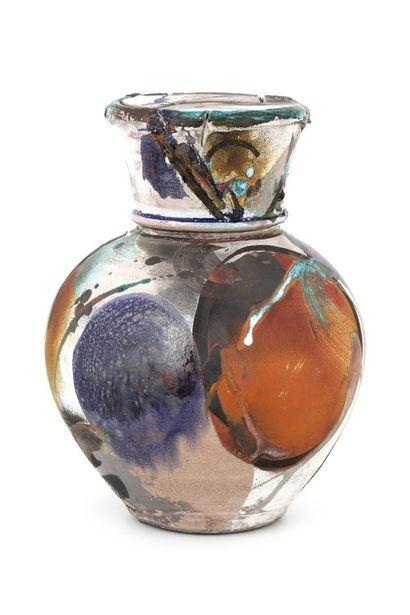 Jim ROMBERG (XX-XXIème)  Vase boule couvert...