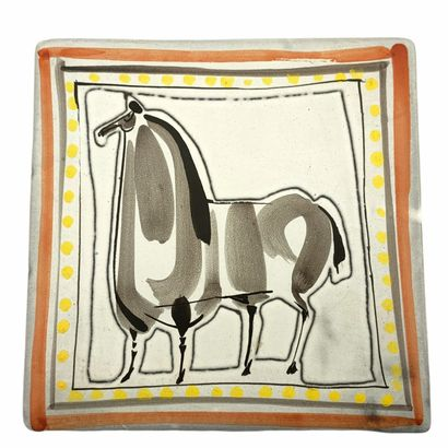Roger CAPRON (1922-2006)  Plaque cheval 1953-1955...