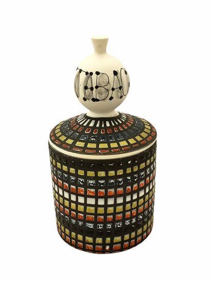 Roger CAPRON (1922-2006)  Pot à bulbes tabac 1955-1965  Céramique émaillée  Signé...