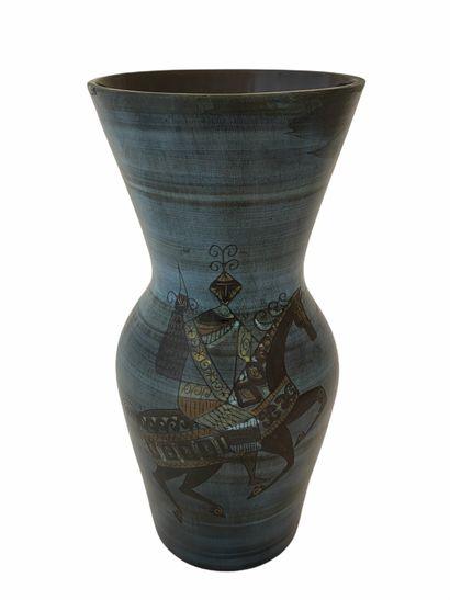 Jean de LESPINASSE (1896-1979)  Vase cavalier...