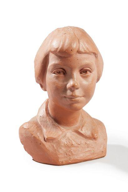 André ROZAY (1913-1991)  Buste jeune fille...