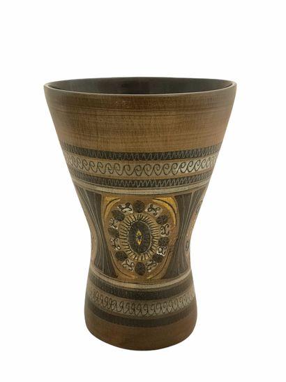 Jean de LESPINASSE (1896-1979)  Vase diabolo...