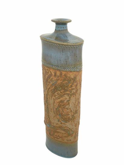 Roger COLLET (1933-2008)  Vase tronconique...