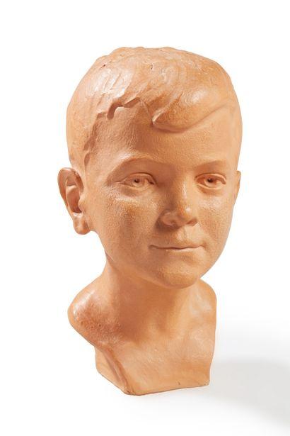 André ROZAY (1913-1991)  Buste jeune homme...